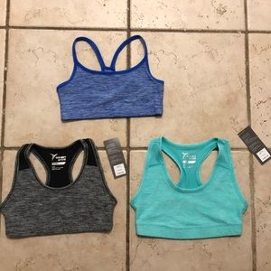 Sz 8 work out bra top, yoga pants and jacket